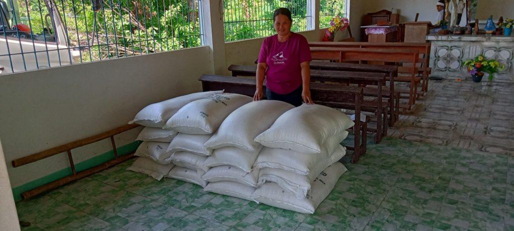 Distribution of rice